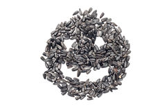 Smiling seeds face Stock Image