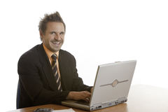 Smiling self-confident businessman Stock Images