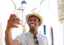 Smiling selfie Stock Photo