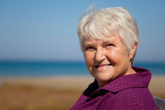 Smiling Senior Stock Image
