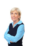 Smiling senior with arms folded Royalty Free Stock Images