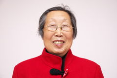 Smiling senior Asian woman Royalty Free Stock Images