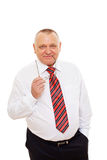Smiling senior business man with glasses Royalty Free Stock Image