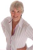 Smiling Senior Business Woman on White Stock Photos
