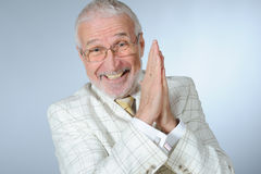 Smiling senior businessman Stock Photo