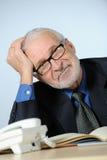 Smiling senior businessman. Vertical image of happy senior businessman Stock Images