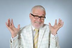 Smiling senior businessman. Horizontal image of happy smiling senior businessman Royalty Free Stock Photos