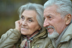 Smiling senior couple Stock Images