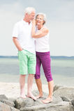 Smiling senior couple Stock Photography