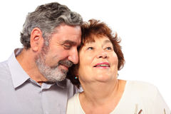 Smiling senior couple portrait Stock Photos