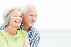 Smiling senior couple Stock Photos