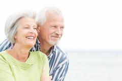 Smiling senior couple Stock Photos