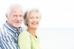 Smiling senior couple Stock Photo