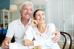Devoted seniors Stock Photo