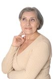Smiling senior lady Stock Photos