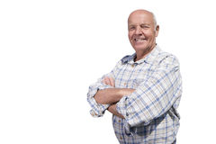 Smiling senior man with arms crossed Royalty Free Stock Image