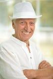 Smiling senior man in hat Royalty Free Stock Photography