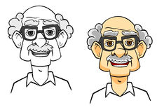 Cartoon senior man Royalty Free Stock Photography