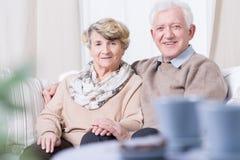 Smiling senior marriage Royalty Free Stock Photos
