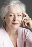 Smiling Senior Woman Royalty Free Stock Photos