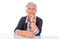 Smiling Senior Woman. The picture shows a Portrait of smiling Senior Woman Royalty Free Stock Photography
