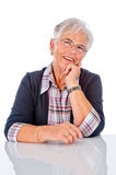 Smiling Senior Woman. The picture shows a Portrait of smiling Senior Woman Royalty Free Stock Photos