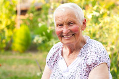 Smiling senior woman Royalty Free Stock Photos