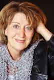 Smiling senior woman royalty free stock photography