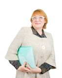 Smiling senior woman with documents Stock Photography