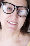 Smiling senior woman with glasses Royalty Free Stock Images