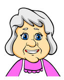 Smiling senior woman. Or grandmother in cartoon style Royalty Free Stock Photos