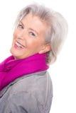 Smiling senior woman stock photography