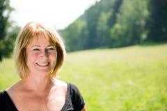 Smiling senior woman portrait Stock Images