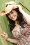 Smiling Sexy Cowgirl Royalty Free Stock Photos