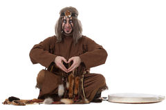 Smiling shaman making magic looking at camera Stock Photography