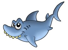 Smiling shark. Color illustration of smiling shark Royalty Free Stock Images