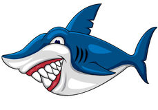 Smiling shark cartoon Royalty Free Stock Images