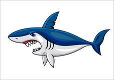 Smiling shark cartoon Royalty Free Stock Image
