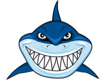 Smiling shark cartoon Royalty Free Stock Photography
