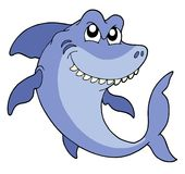Smiling shark vector illustration Royalty Free Stock Photo