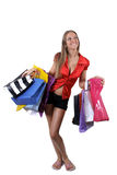 Smiling in shoping Royalty Free Stock Image