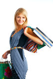 Smiling shoping woman Royalty Free Stock Image