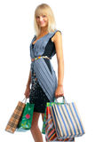 Smiling shoping woman Royalty Free Stock Photo