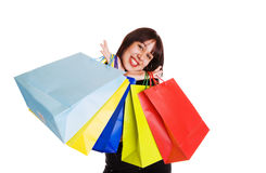 Smiling shopper Stock Photography
