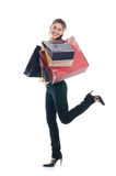 Smiling shopper Stock Images