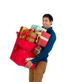 Smiling shopper Stock Images