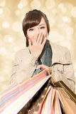 Smiling shopping girl Royalty Free Stock Images