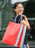 smiling shopping woman Stock Images