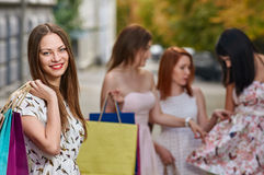 Smiling shopping woman Royalty Free Stock Photo