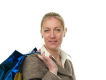 Smiling shopping woman portrait Stock Photography